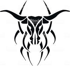 черный татуировки бык вектор мужчиныs Tattoo женщиныs Tattoo