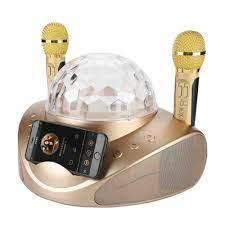 Aile Disko KTV Kitleri Bluetooth Karaoke Mikrofon Seti Çift Mikrofon Renk  Işıkları ile telefon tutucu Çok Fonksiyonlu Amplifikatör Hoparlör|Microphones