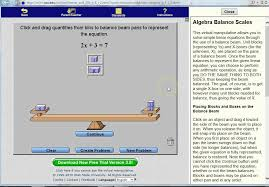 solve linear equations with balance beam