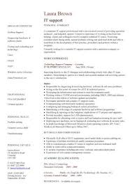 It Resume Template Magnificent It Resume Templates It Support Cv Sample Helpdesk Writing A Good Cv