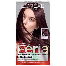 Loreal Paris Feria Permanent Hair Color Deep Burgundy Brown 36