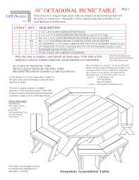 Free Picnic Table Designs Picnic Table Free Octagon Walk In Picnic Table Plans Free