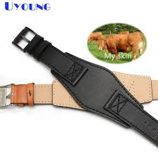 new genuine leather watch strap fashion watchband 24mm for fossil watch band with mat handmade