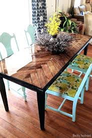 diy wood table wooden herringbone dining table with glossy and tapered legs reality daydream diy