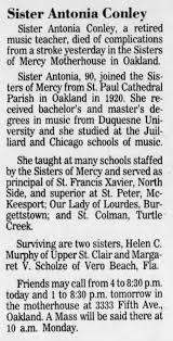 Conley, Elizabeth Mary - OBIT - Newspapers.com