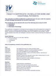 Cert Ii Skills For Work Eastern Goldfields College