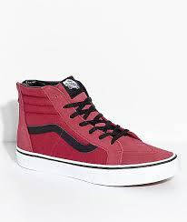 vans shoes high tops for boys. vans boys sk8-hi tibetan red zippered skate shoes high tops for 8