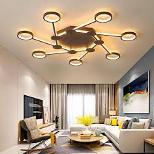 chandelierrec modern led chandeliers for living room bedroom low ceilings ac85 265v home ceiling chandeliers lighting fixtures contemporary chandeliers