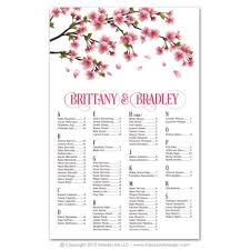 Seating Chart Design Cherry Blossoms Seating Charts