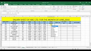 Monthly Salary Statement SALARY STATEMENT IN EXCEL YouTube 7