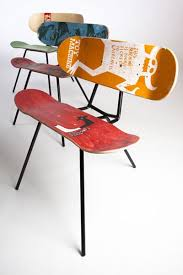 I picked this picture of skateboard chairs because of the cool idea of  taking something that