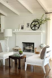 white brick fireplace view full size