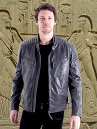 sergino men s grey biker leather jackets fantastic