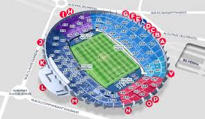 Uk Football Stadium Seating Chart Stadium Map Paris Saint Germain