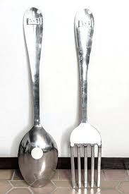 oversized fork and spoon wall decor mesmerizing art kitchen big spoon and fork large wooden on giant knife fork and spoon wall art with oversized fork and spoon wall decor mesmerizing art kitchen
