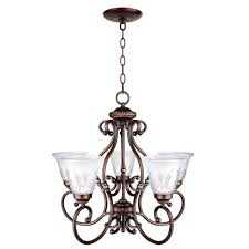 5 light bronze chandelier volterra with silver accents hampton bay chandeliers 64 endearing bercello estates