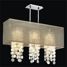 rectangular shade chandelier capiz shell chandelier omni 627c