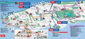 download tourist new york map  major tourist attractions maps