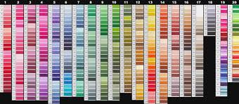 Anchor Cross Stitch Thread Colour Chart 67 Memorable Dmc Perle 8 Color Chart