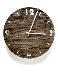 wall clock round old wood huamet collection previous