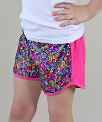 love this product pink blue front side sequin shorts toddler girls