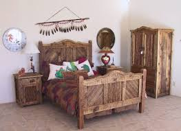 Rustic Bedroom Rough Sawn Cedar Gringo Latino 79 Western Bedroom Furniture  Sets