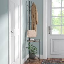 Wooden Coat Rack With Storage Corner Coat Rack With Storage Wayfair 92