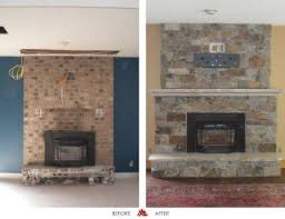 before and after fireplace photos twin city fireplace