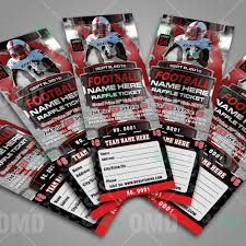 sports invites halftime football raffle ticket template raffle ticket design 6 product 3