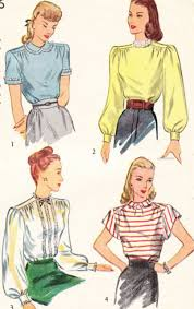 Simplicity Blouse Patterns Gorgeous 48s Pretty Blouses Pattern Simplicity 48 Vintage Sewing Pattern