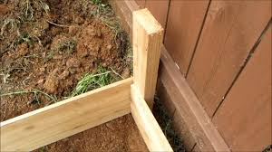 How To Build A Raised Flower Bed Against A Fence