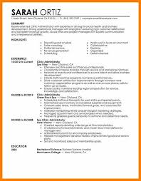 7 Business Administration Cv Sample Weekly Template