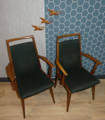 Esszimmerstühle Aus Stoff Und Holz Von Casala 1960er 4er Set