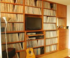 Wall Unit for Collection of Rare Jazz Vinyls Scott Jordan Furniture