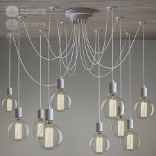 nordic vintage white res chandeliers 10 arms retro adjule diy art spider pendant lamp suspension luminaires acrylic chandelier victorian chandelier