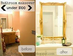$100 Chic Bathroom Makeover   Vintage Romance featured on Remodelaholic.com  #budget #style