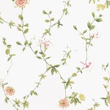 Flower Wall Paper Sanderson Passion Flower Wallpaper Cream Redproduct Code Dpempf102