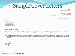 Accounting Cover Letter Extraordinary Sample Cover Letters