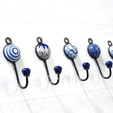 Coat Racks Lowes Decorative Hooks Indigo Blue Decorative Ceramic Bohemian Wall Hooks 99