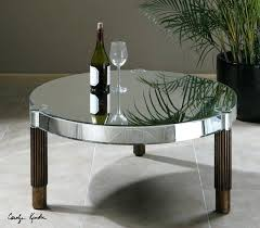 nice round mirror coffee table mirrored transitional tables tray