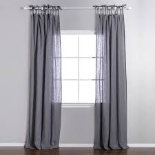 a touch of sheer with a simple design available in a multitude of colors the linen voile curtain panel adds a soft sheer touch to rooms