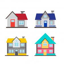 Cute Cartoon Houses Vector Premium Download