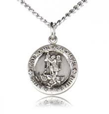 child or youth st michael medal sterling silver re0008