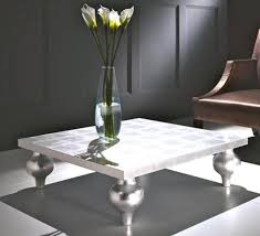 silver coffee table with massive feet silver side table uk
