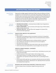 Architectural Draftsman Resume Samples New Download Drafting