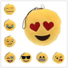 promotional cute smiley face toy gift hanging drop emoji smiley emotion yellow stuffed plush doll toy pendant for kids happy small gift affordable happy