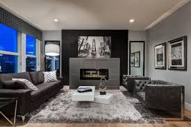 Grey Masculine Living Room Design