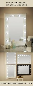 lighting for mirrors. julia hollywood mirror in white gloss 80 x 60cm lighting for mirrors