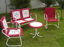retro metal patio chairs. Vintage Metal Outdoor Furniture - Zhis.me | Patio Conversation Sets Dining Chairs Tables Hammocks Adirondack Retro