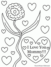 Small Picture Coloring Pages That Say I Love You Mom High Quality Coloring